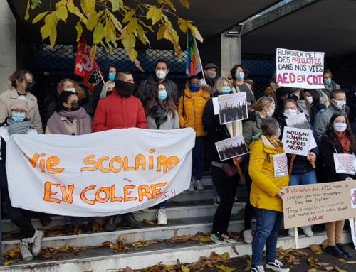 #19Janvier 2021 : grève des AED. Rassemblement 14h à Amiens devant le rectorat !