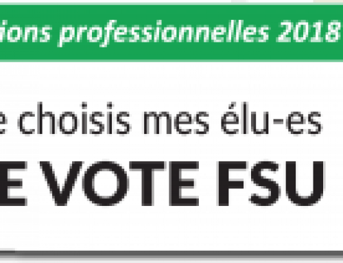Elections professionnelles 2018 : du 29 novembre au 6 décembre, je choisis mes élus, JE VOTE FSU !