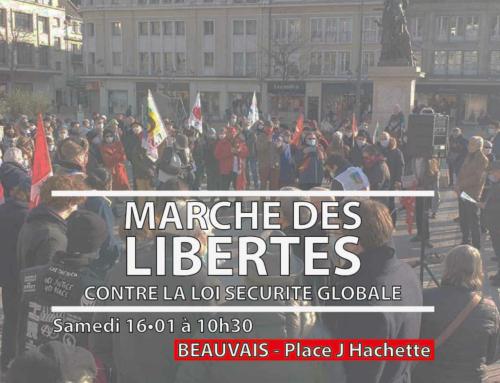 #16janvier : Marche des Libertés à Beauvais 10h30