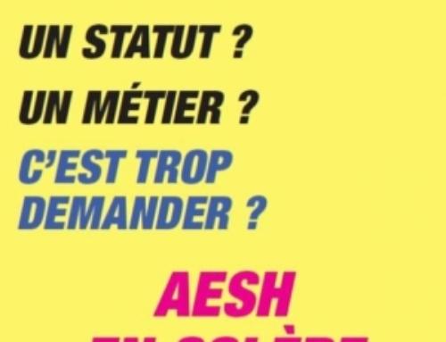AESH: plus que jamais déterminé-es, en grève le jeudi 3 juin!